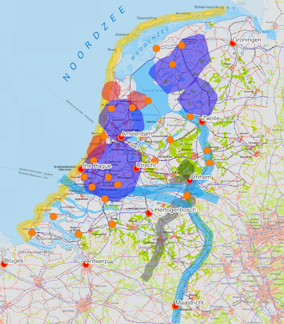 Tourist attractions for bike tours in the Netherlands